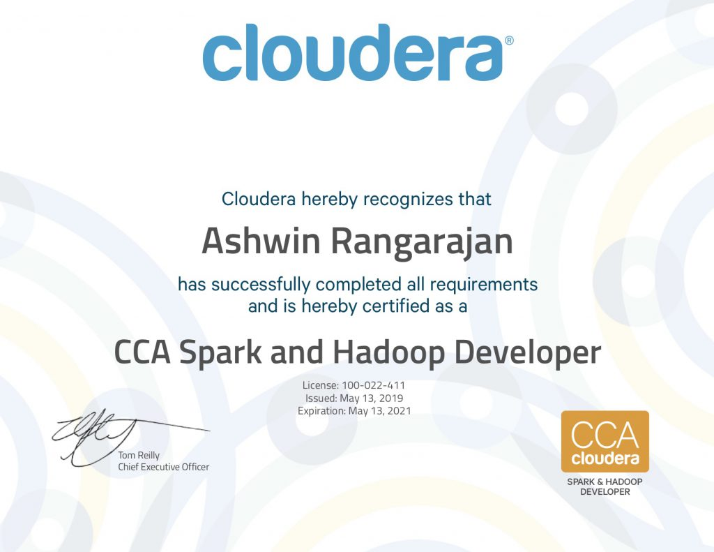 Cloudera CCA Spark and Hadoop Developer