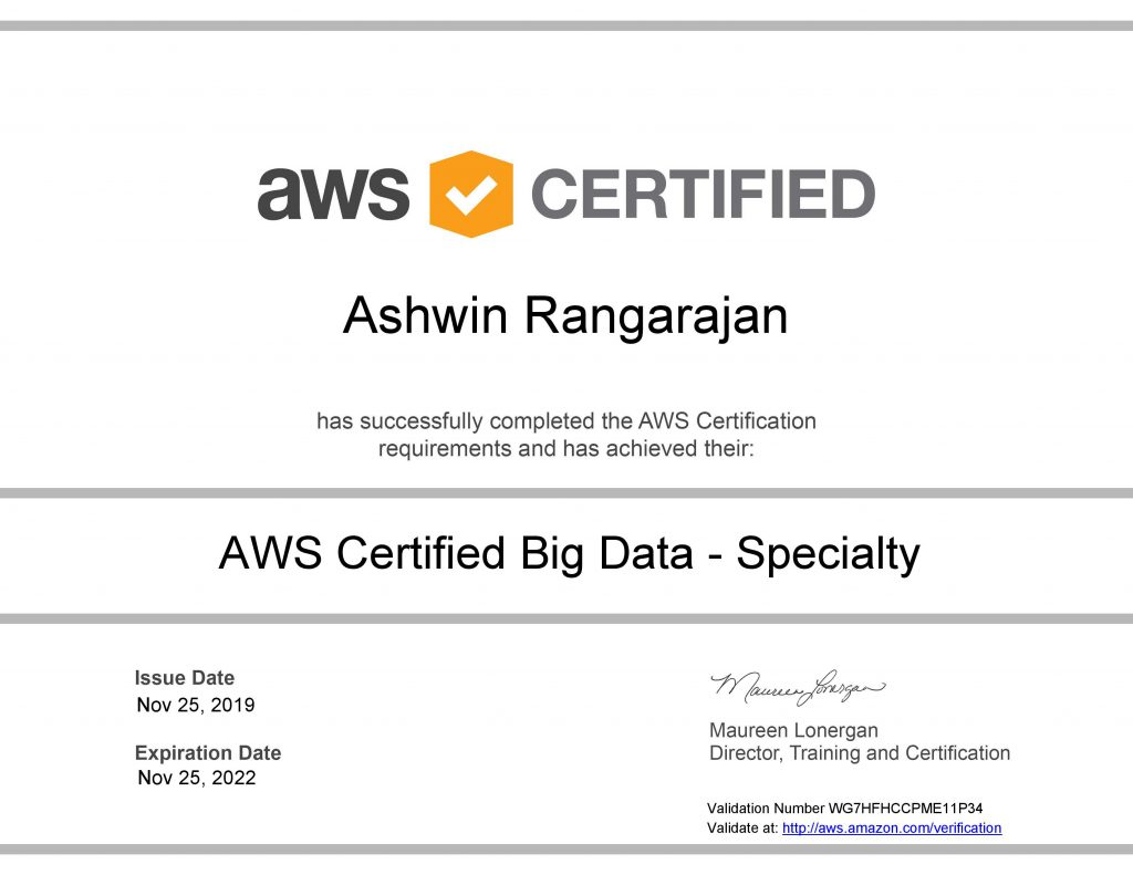 AWS Certified Big Data Specialty